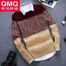 New 2016 Men's O-Neck Long Sleeve Thicken Pullovers Sweater Fashion Winter Mens Knitting Bottoming Sweater Tops H6721