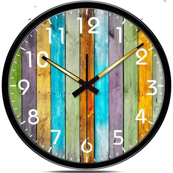 Creative classical luminous wall clock Retro rustic Living room wall clock Personalized home decor