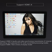 10in FHD 1080P Monitor 1920x1080 IPS Screen LCD Monitors w/ Case for Raspberry Pi PS3/4 for WiiU Xbox360 Support HDMI / VGA