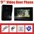 "DIYSECUR 9"" Video Door Phone Video Intercom Night Vision Camera Touch Monitor Strike Lock RFID Keyfobs Remote Control CCTV"