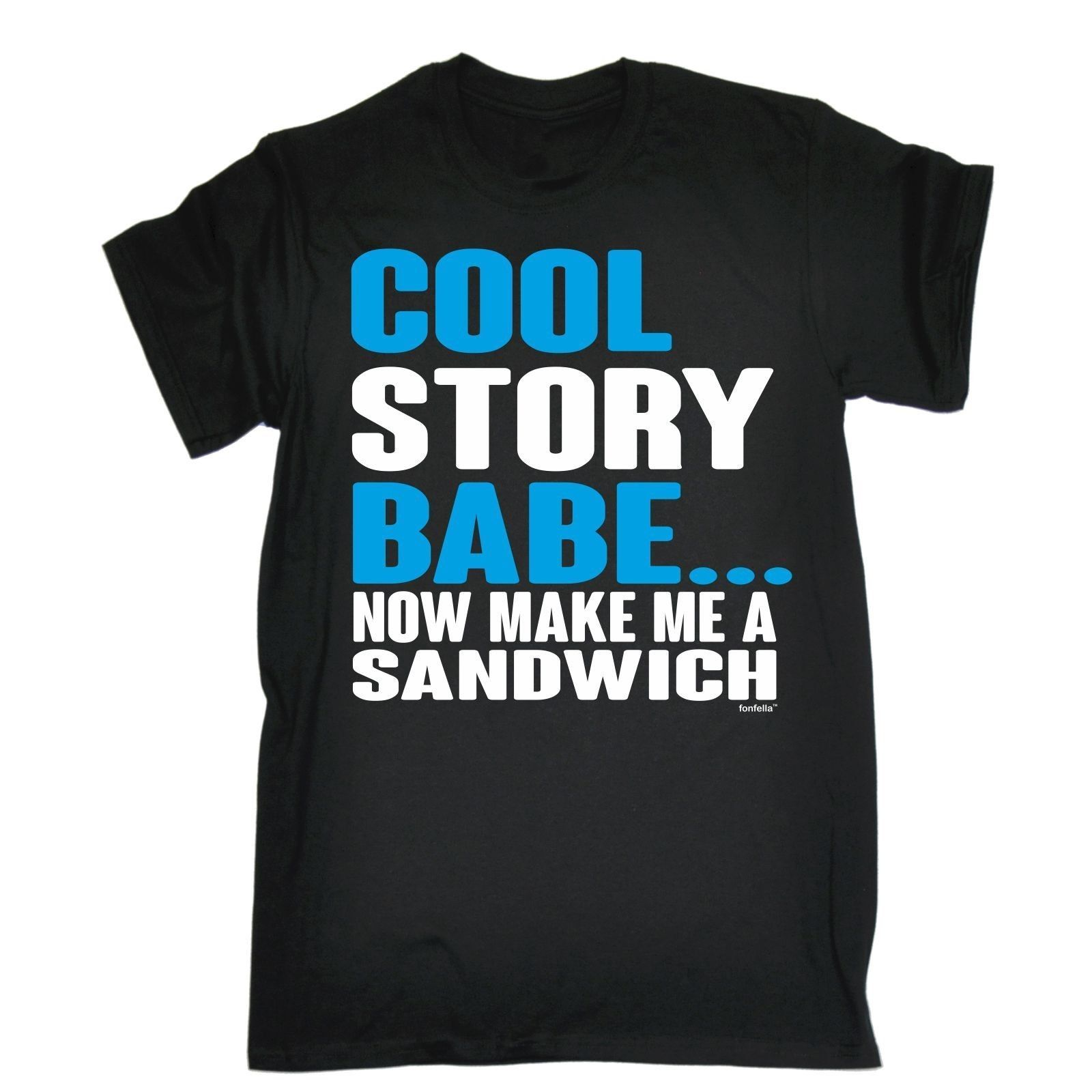Пункт продажи-мужские-черный-2XL-предание детка теперь сделать мне сэндвич Футболка короткий рукав дешевые распродажа хлопковая футболка ...