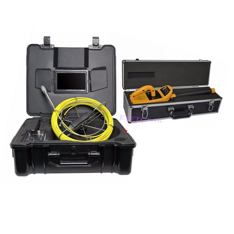 pipe drain sewer video inspection camera w 50m cable pipe locator dvr recorder 4400mah battery. Black Bedroom Furniture Sets. Home Design Ideas