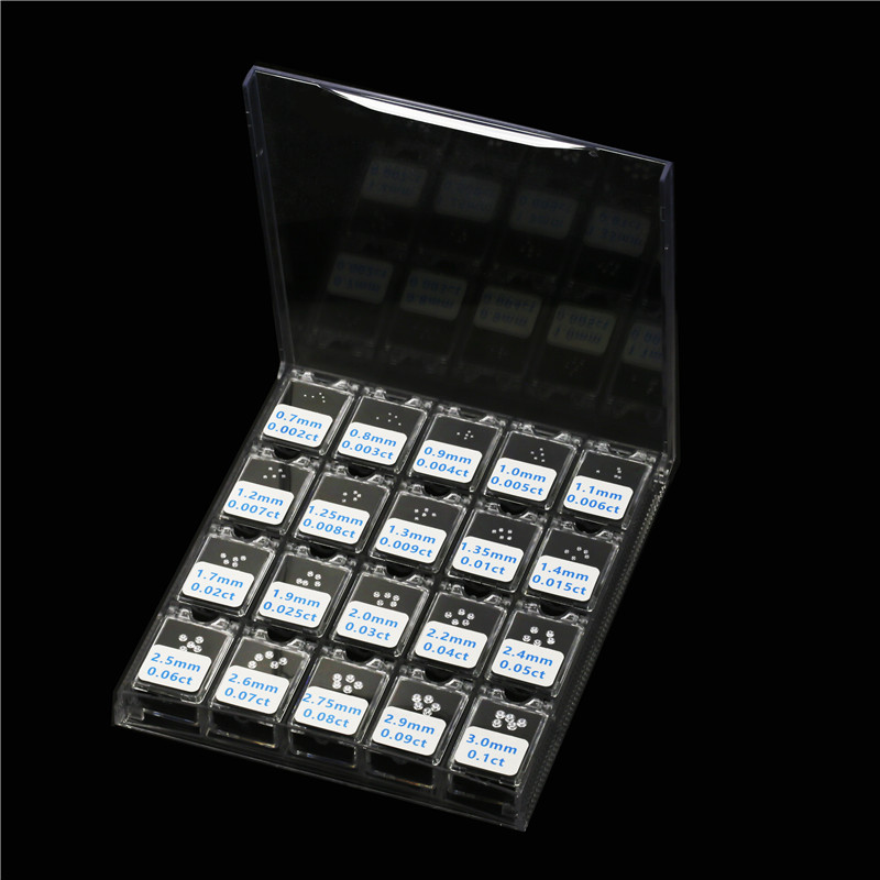 0.002ct To 0.1ct The Size Of The Diamond Weight Cubic Zirconia Loose Stone Tools Master Tester Sets