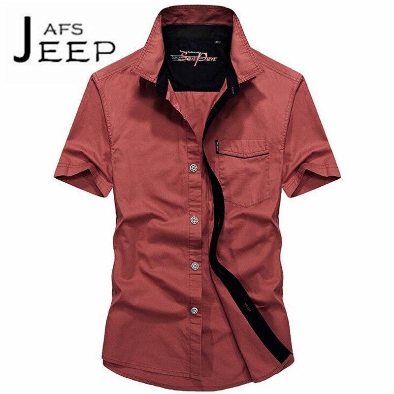 JI PU Fashion Design 2017 Summer College mans Field Travel Cotton Casual Wearable short sleeve shirt,Slim mans llevar shirts