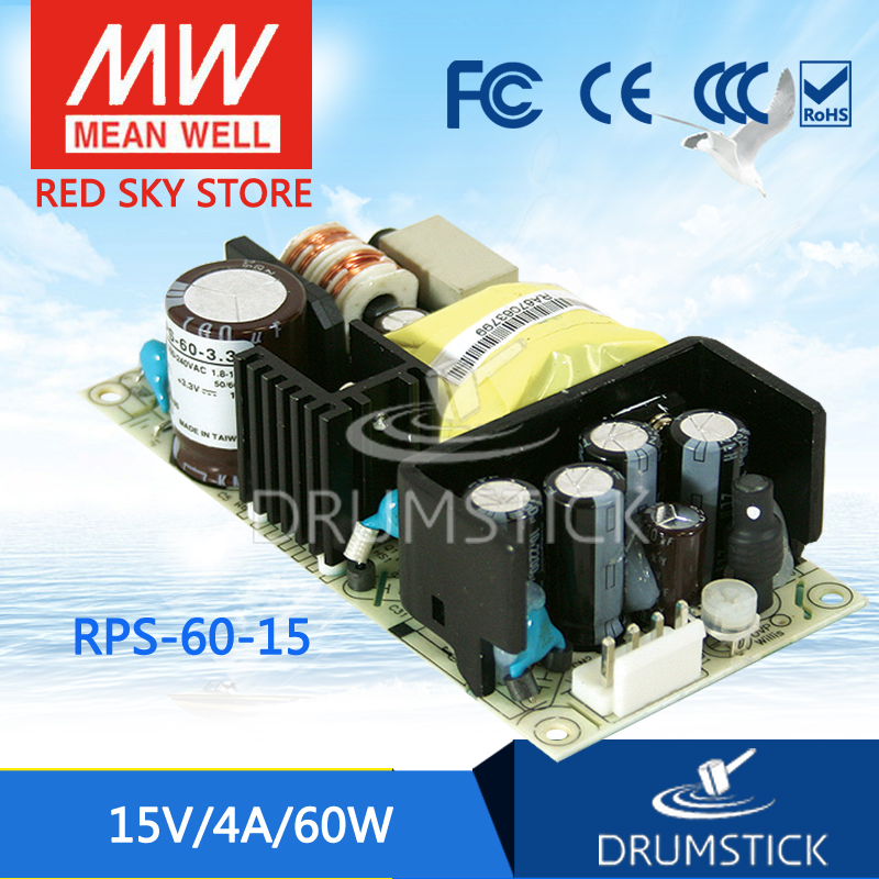 MEAN WELL RPS-60-15 15V 4A meanwell RPS-60 15V 60W Single Output Medical Type нож столовый attribute fortress нерж сталь