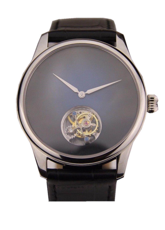 Tourbillon Wristwatch Movement Custom Own Brand Name sunshine blue Dial MensTourbillon Wristwatch Movement Custom Own Brand Name sunshine blue Dial Mens