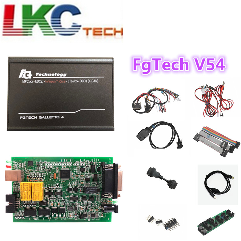 2018 Fgtech Galletto 4 Master V54 FG Tech V54 BDM-TriCore OBD Support BDM Fuction OBD2 ECU Chip Tuning Tool