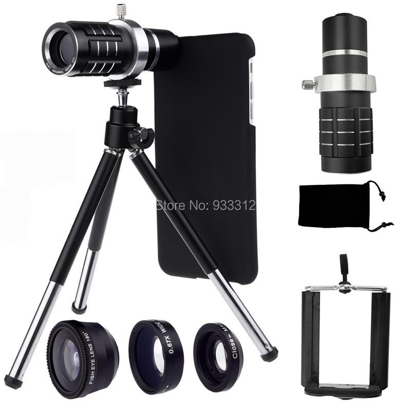 Telephoto Self Lens 12x Telescope&Three Awesome Lentes+Phone Case/Bag+Holder Camera Tripod For Apple iPhone X 8 7 Plus 6 S SE|tripod for|holder tripod|tripod tripod - title=