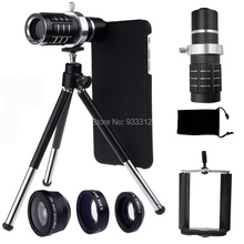 Telephoto Self Lens 12x Telescope Three Awesome Lentes Phone Case Bag Holder Camera Tripod For Apple