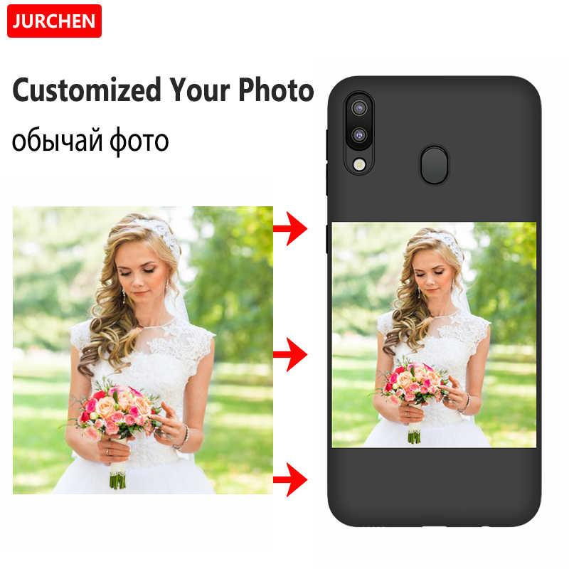 Jurchen Custom Case untuk Samsung Galaxy M10 A10 20 30 40 50 60 70 A20E A6 A8 A9 S A2 inti Catatan 10 10Plus Case DIY Foto Cover