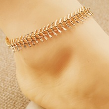 1pc Unique Nice Sexy Simple Beads Gold Color Chain Anklet Ankle Bracelet Foot Jewelry For Women