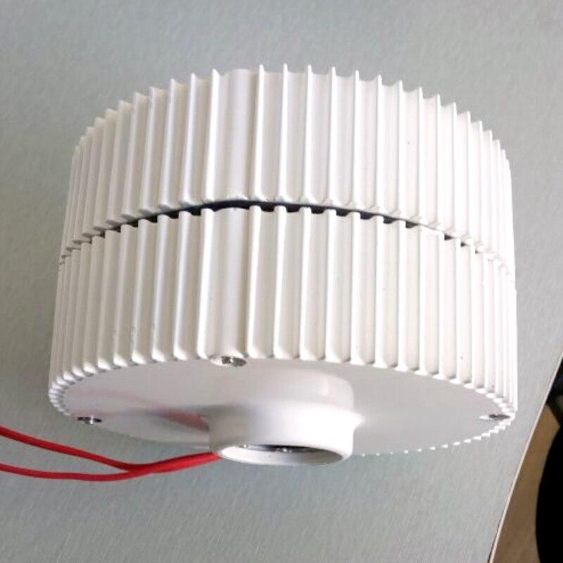 Générateur d'éolienne 400 W 24 V démarrage à basse vitesse générateur à aimant permanent NdFeB/coque en aluminium pour bricolage