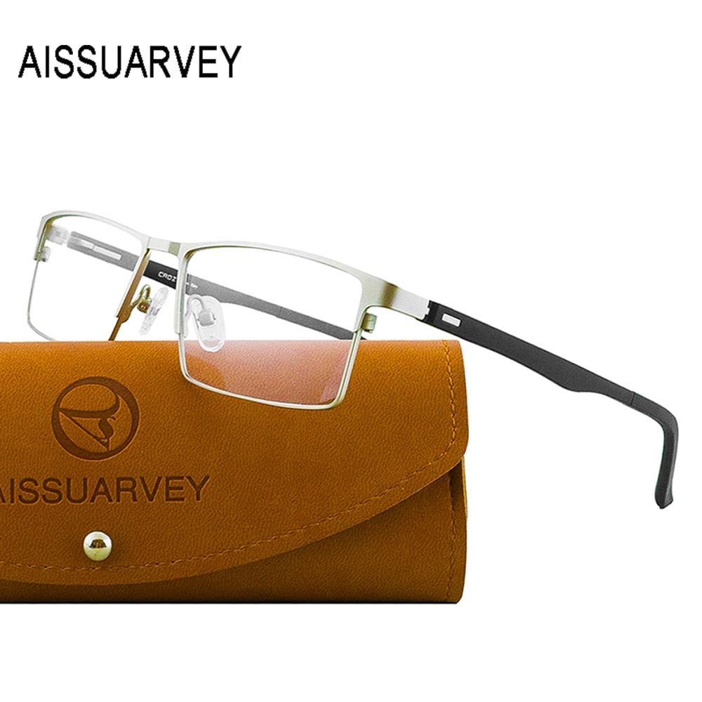 Men's Titanium Alloy Eyeglasses Frames Prescription Glasses Frame With Clear Lenses Optical Eyewear Business Rectangle For Men