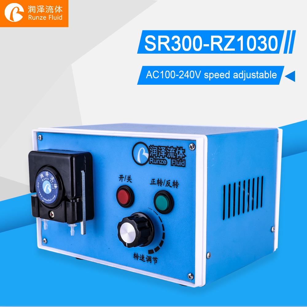Flow Rate Adjustable Peristaltic Liquid Pump Water Chemicals Dosing