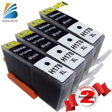 BOSUMON 178 black Ink Cartridges for hp 178 178XL with chip use for hp 6510 B010B B109a B109n B110a B210b B209a B210a 3070A