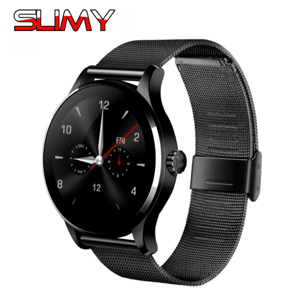 Slimy K88H Smart Watch Smartwatch1.22 Inch IPS Round Screen Support Heart Rate Monitor Bluetooth Smartwatch for IOS Android все цены