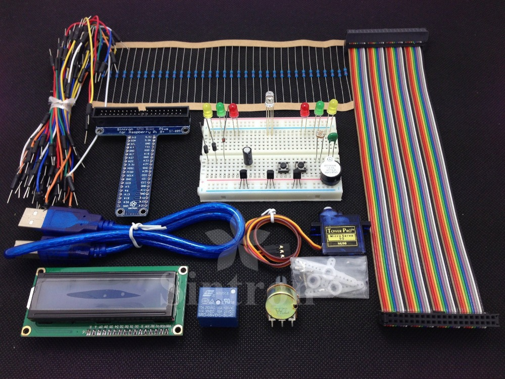تابلوی نمونه سازی پروژه Sintron 40-pin GPIO Breakout DIY Kit Kit Raspberry Pi 2 Model B & B +، LCD1602 حمل رایگان