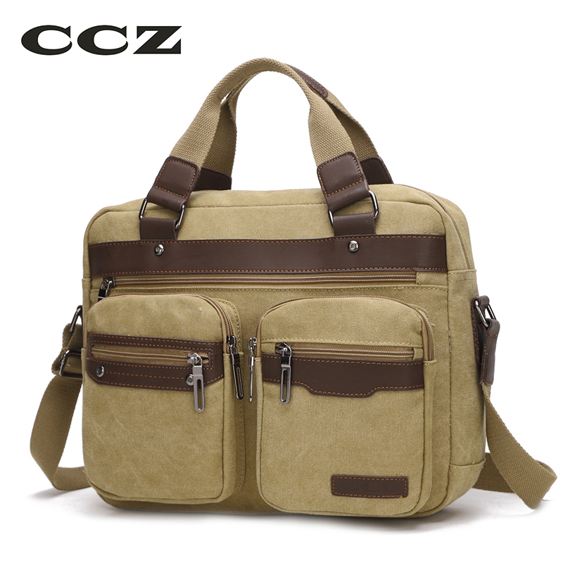 CCZ Mens Canvas Bag Shoulder Bag Handbags Travel Bags For Men Jeans Crossbody Satchel 14 Laptop Computer Bags Haversack HB8006