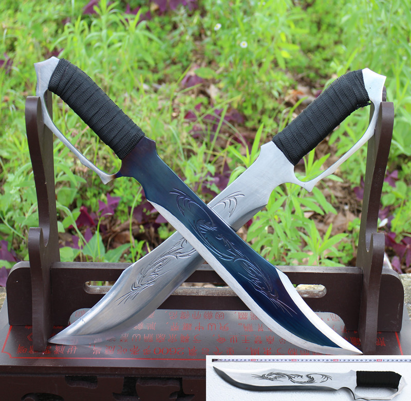 Brand new Longquan swords eight cutter knife handmade Wing Chun martial arts sword High manganese steel butterfly knives no edge