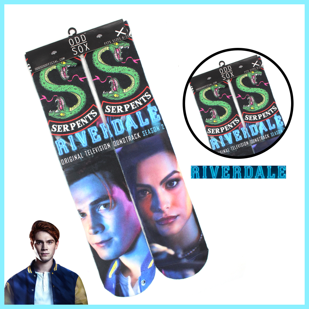 """4x16"""" Riverdale Archie Betty Serpents Cotton Socks Colorful Stockings Warm Tights Cosplay Costume Unisex Cartoon Fashion Gifts"""