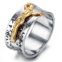 Korean fashion jewelry wholesale 2015 new titanium jewelry male fashion ring