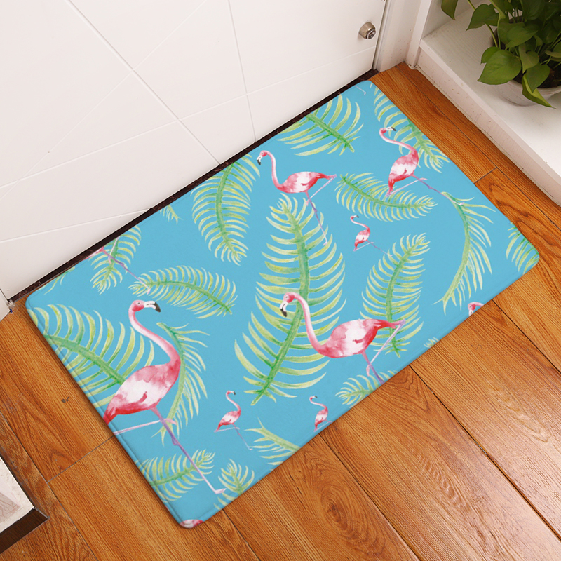 2017 New Home Decor Flamingo Carpets Non-slip Kitchen Rugs for Home Living Room Floor Mats 40X60 50X80cm