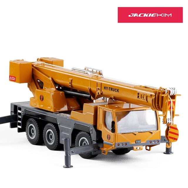 Die-Cast Kendaraan Teknik Logam Model Mobil Mainan Paduan Crane Mengangkat Truk Mesin 1:50 Mainan untuk Anak