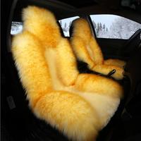 New Arrive Winter Car Seat Covers 100% Natural Fur Australian Sheepskin+Fur Car Seat Covers Universal Size