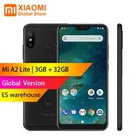 Глобальная версия Xiao mi A2 mi A2 Lite 3 ГБ 32 ГБ Snapdragon 625 Восьмиядерный 5,84 19:9 полный экран 12 Мп + 5 Мп 2 камеры Smartphoe