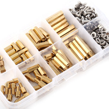 200pcs/Set M3 PCB Brass Motherboard Standoff Screw Nut Assortment Set Hex Male Female Threaded bolts and nuts