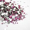 Mix All Size Purple 3D Nail Rhinestones Flatback Glass Strass Non HotFix Rhinestone For DIY Nails