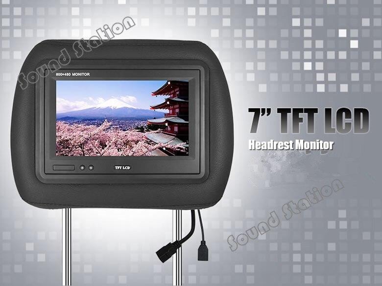 2x7 дюймов подголовник автомобиля TFT ЖК дисплей монитор Экран Авто Automotivo Аудио Видео Мультимедиа Multimidia Дисплей (черный бежевый серый)