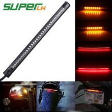 1PC Universal Car Motorcycle Flexible Brake Tail Stop Light Led Turn Signal License Plate Strip DRL