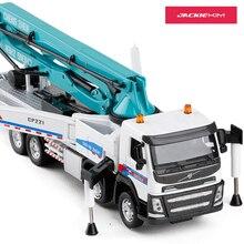 1:50 сплав модель автомобиля грузовик акустооптического бетононасоса грузовик для взрослых, металлическая украшения Детские Рождество год подарок игрушки