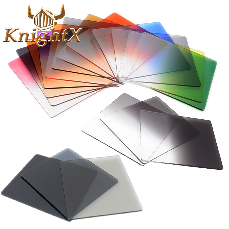 KnightX Gradueret Color Square Filter ND Neutral Density Cokin P Series Til Nikon Canon D5200 D5300 D5500 52MM 55MM 58MM 62MM