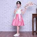 Корейский Ханбок для Девочек С Коротким Рукавом Южной кореи Традиционная Одежда Костюмы Девушки Танцуют Ханбок Выступления.