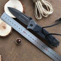 Browning Folding Knife 8CR14Mov Titanium Coating Blade G10 Handle Pocket Survival Knifes Hunting Camping Knives Outdoor