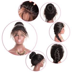 Image 4 - גוף גל תחרה מול שיער טבעי פאות לנשים שחורות PrePlucked קו שיער טבעי עם תינוק שיער RXY 13x4 ברזילאי רמי שיער פאה