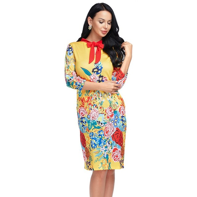 Women Plus Size Summer Dress Floral Chinese Style Vintage Print Long