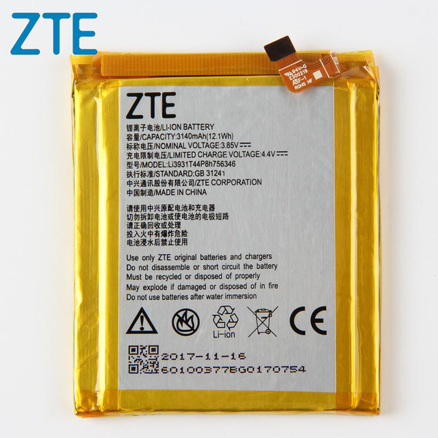 Orijinal ZTE Akson 7 telefonu pil ZTE Akson 7 5.5 inç A2017 LI3931T44P8H756346