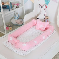 Portable Baby Crib Infant Toddler Cotton Cradle Sleep Pod Multifunction Nursery Travel Folding Newborn Baby Nest Bed With Bumper
