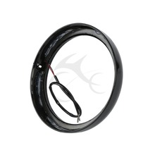 7 in Headlight Trim Ring + Light For Harley Touring Street Electra Tri Glide