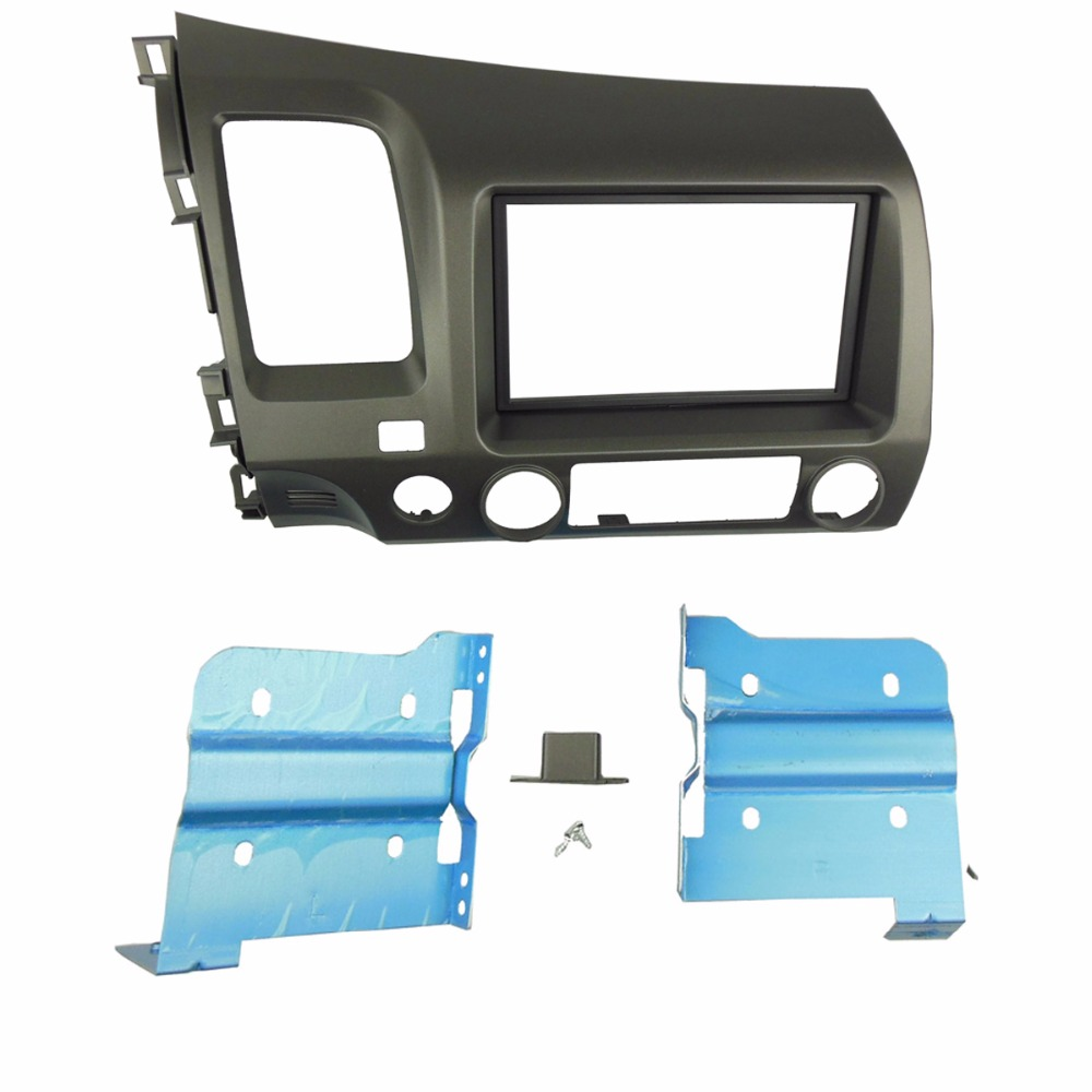 Double Din Fascia for Honda Honda Civic 2007+ Radio DVD Stereo CD Panel Dash Mounting Installation Trim Kit Face Frame Fascia for honda civic hatchback 2012 double din fascia radio cd gps dvd stereo cd panel dash mount installation trim kit frame