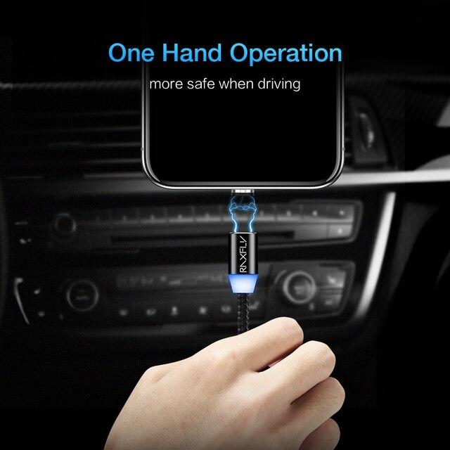 RAXFLY 2in1 Magnétique Câble Micro USB Câble Pour Samsung S3 S4 S6 Éclairage Câble Pour iPhone 7 6 5 USB type-C Câble pour Xiaomi 5 5S 1