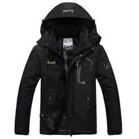 Winter Jacket Men Thick Velvet Down Coat Thermal Warm Windproof Hood Jackets Mens Outwear Parka Homme