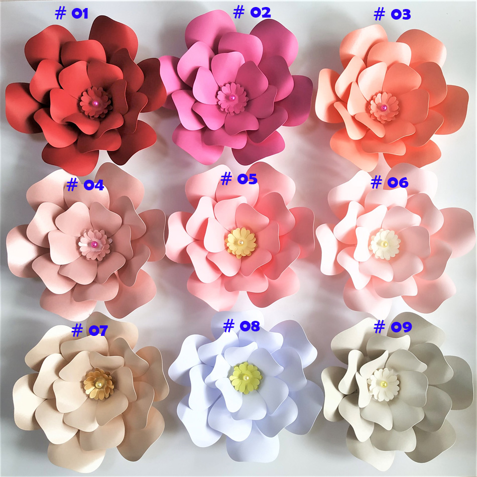 Aliexpress Buy 20cm Thick Cardstock Rose Diy Paper Flowers For