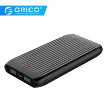 ORICO 10000mAh Ultra Thin Power Bank with LED Indicator Charge Adapter for Mobile Phone 12W Max Output Portable External Battery