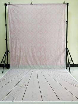 HUAYI 5x10ft Cotton Polyester Pink Damask Photography Backdrop Washable Photo Studios Baby Props Background KP-052