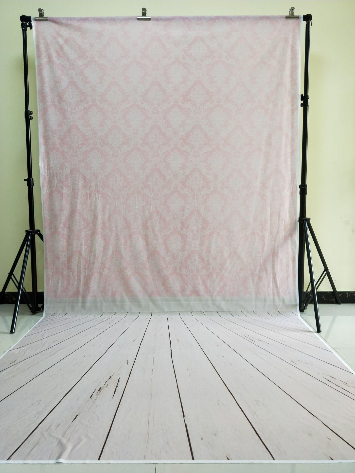 HUAYI 5x10ft coton Polyester rose damassé photographie toile de fond lavable Studios Photo bébé accessoires fond KP-052