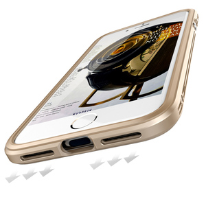 Image 2 - For Apple iPhone 7 Case aluminio Metal Clear backplane Luxury Armor phone Case Aluminum Frame Cover for iPhone 7 Plus Shockproof